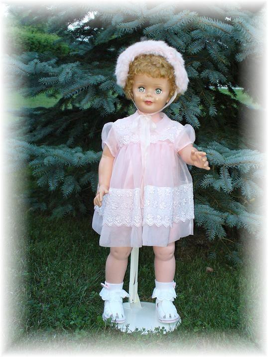 36 Inch Walking Doll I Had One Vintage Pink Dress Dolls Vinyl Dolls