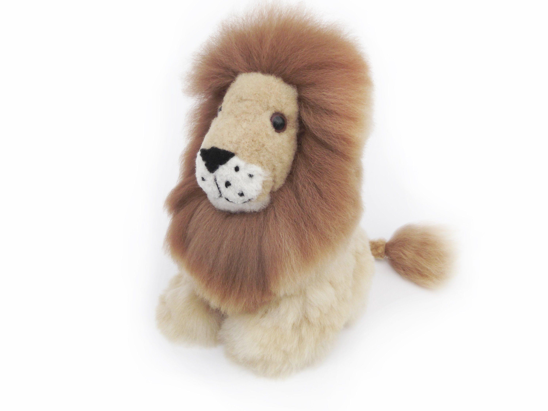 Scary Squeeze Stuffed Animals, Fluffy White Lion Stuffed Animal Soft Toy Handmade Alpaca Christmas Gift Ideas