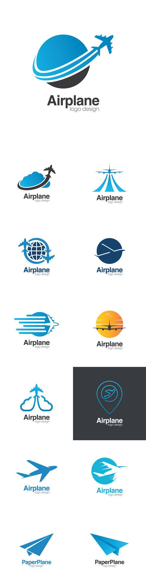 vectors airplane creative concept logo design tempate denver