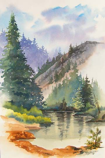 Watercolor Nature Watercolor Pictures Landscape Drawings