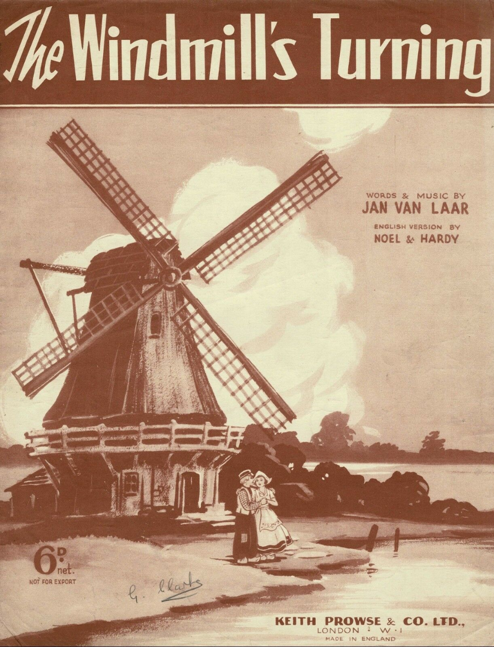 Details about THE WINDMILL'S TURNING Vintage Sheet Music DA #vintagesheetmusic THE WINDMILL'S TURNING Vintage Sheet Music DA | eBay #vintagesheetmusic