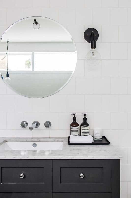 Projects that wow with standard 4x4 or 6x6 square tiles for Small bathroom design 6x6