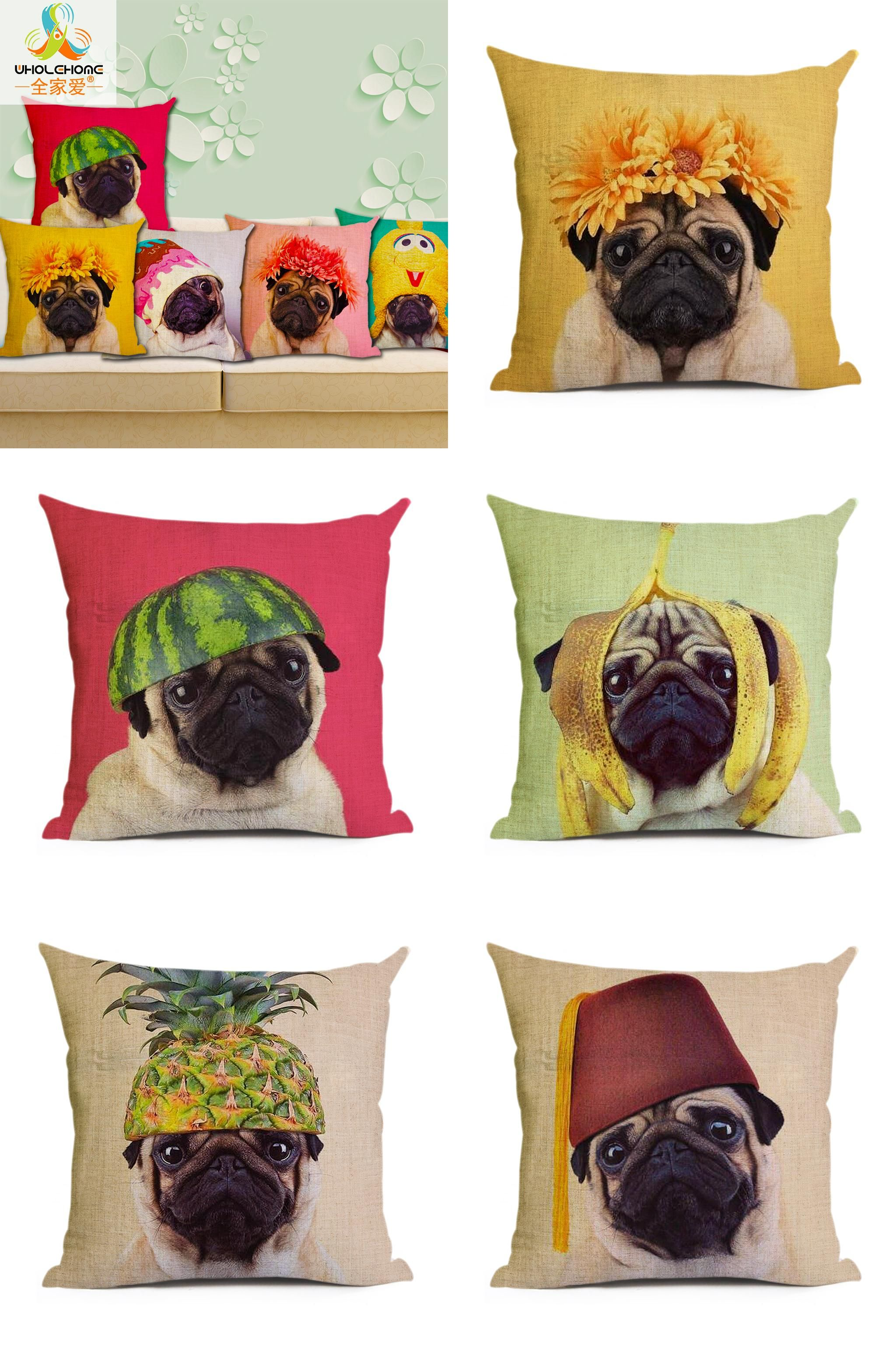 Visit to Buy] Animal cushion cover Dog for children Decorative