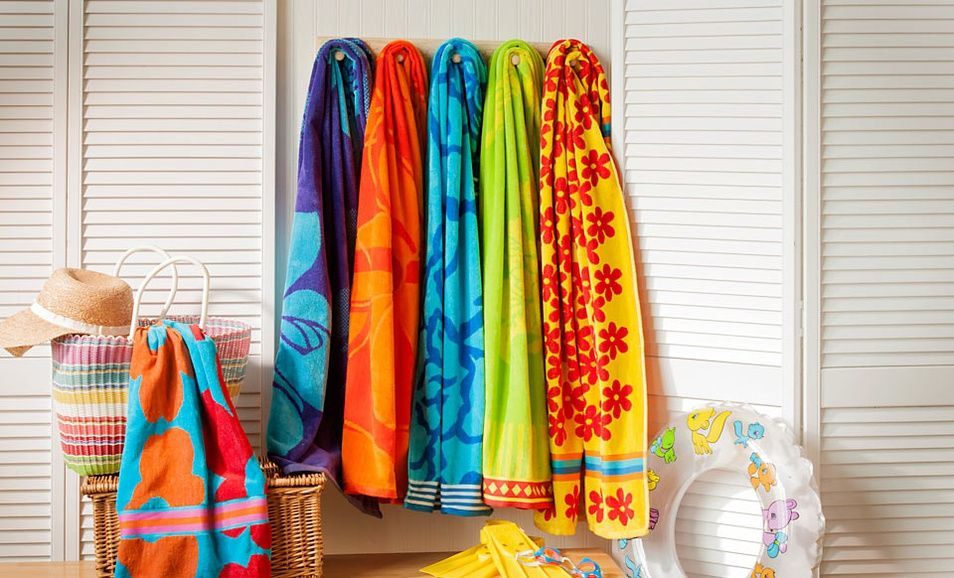 13 99 For A Set Of Two Northpoint Double Jacquard Beach Towels