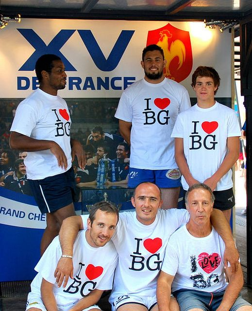 """Equipe """"i love BG"""" beach rugby tour 2010 à Brive la Gaillarde"""