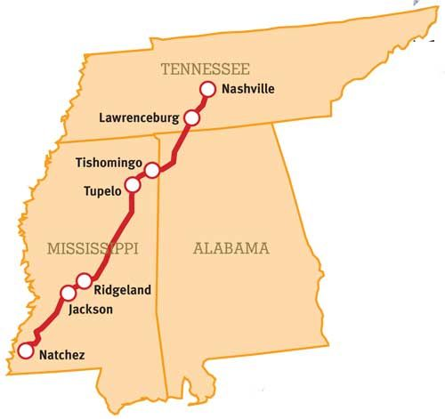 The Natchez Trace Parkway A Federal Park Is A 444 Mile Long