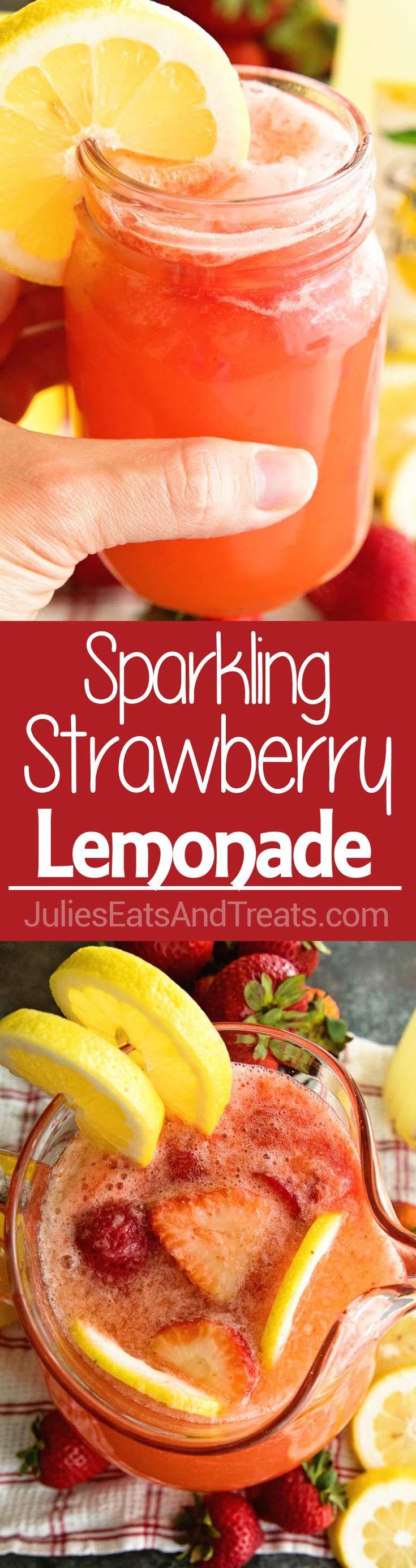 Easy Sparkling Strawberry Lemonade #lemonadepunch