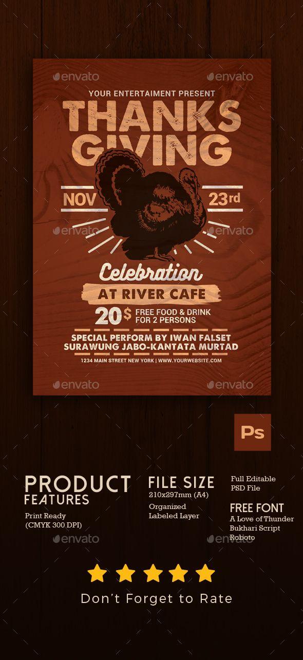 Thanksgiving Celebration Flyer Events Flyers Flyer Pinterest