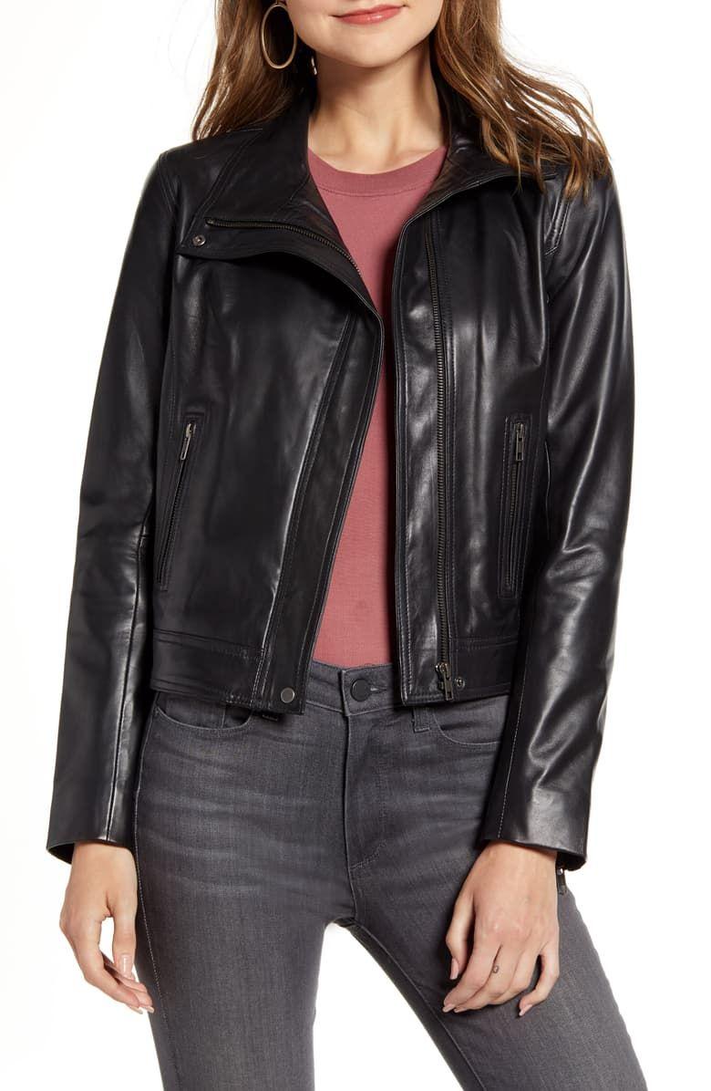 Chelsea 28 Leather Moto Jacket Nordstrom Black Leather Moto Jacket Moto Jacket Blazer Street Style [ 1196 x 780 Pixel ]