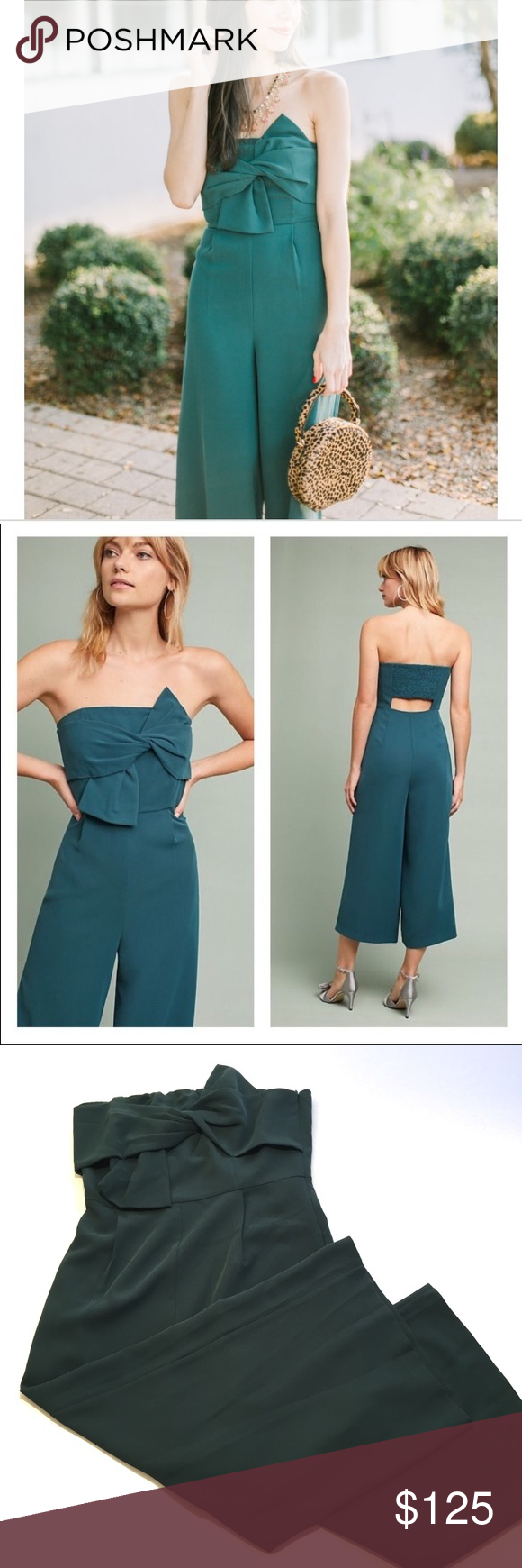 265f7ede7453 Anthropologie Hailee C. Beatty Strapless Jumpsuit Anthropologie Haille C.  Beatty Strapeless Jumpsuit with Bow
