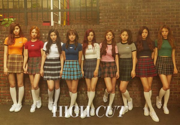 """Highcut Magaizne features the Tennis Skirt in the """"Gugudan"""" story for July 2016."""