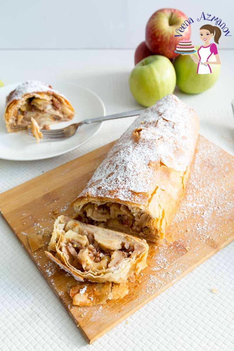 This is a simple, delicious and easy apple strudel recipe