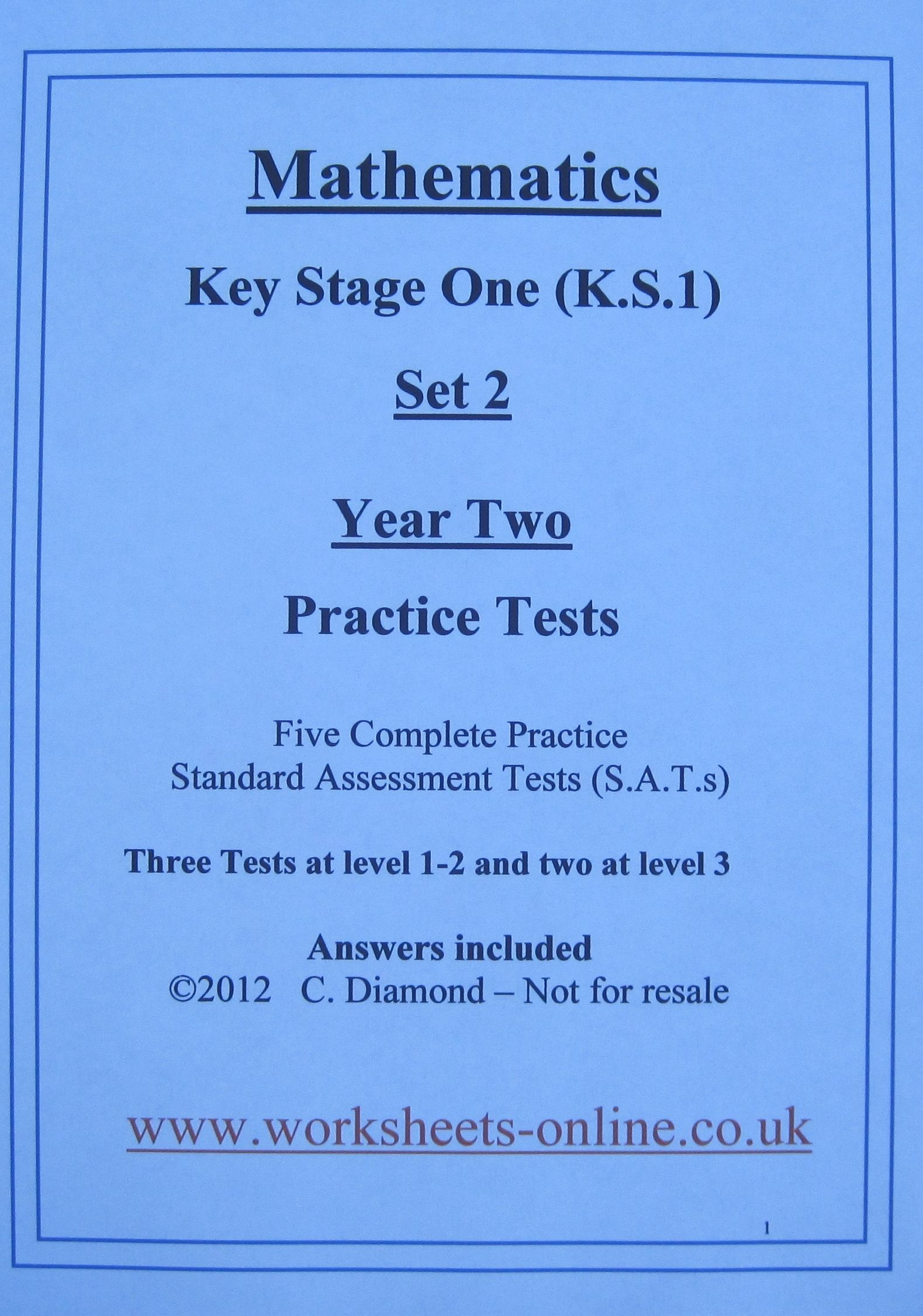 Ks1 Maths Sats Papers To Print Out And Use With Children