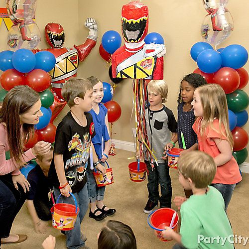 Power Rangers Pinata Game Idea Power Ranger Party Power