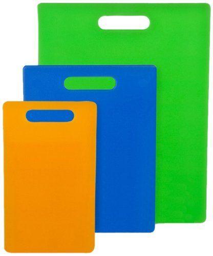 "Frigidaire Professional Set of 3 Jelli Cutting Boards by Frigidaire Professional. $24.99. 1 Green 11"" x 14.5"" Cutting Board. 1 Orange 6"" x 10"" Cutting Board. 1 Blue 8.5"" x 11"" Cutting Board. Set of 3 Jelli Cutting Boards: 1 Green 11"" x 14.5"" Cutting Board, 1 Blue 8.5"" x 11"" Cutting Board, 1 Orange 6"" x 10"" Cutting Board"