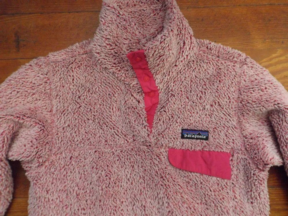 Patagonia Plush Fleece Pullover Retool Pink Pile XS #Patagonia ...
