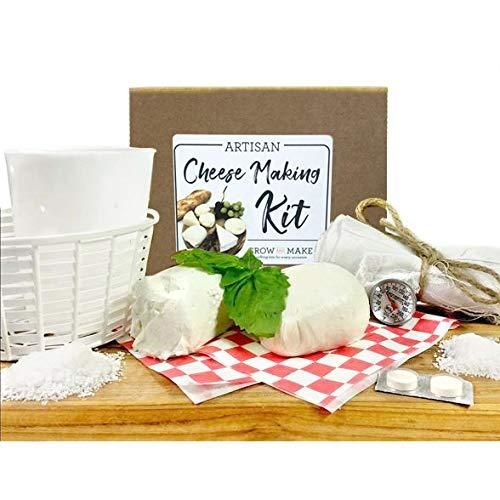 Photo of Grow and Make DIY Artisan Cheese Making Kit – Learn how to make home made mozzarella, ricotta, chèvre, paneer, and queso blanco!