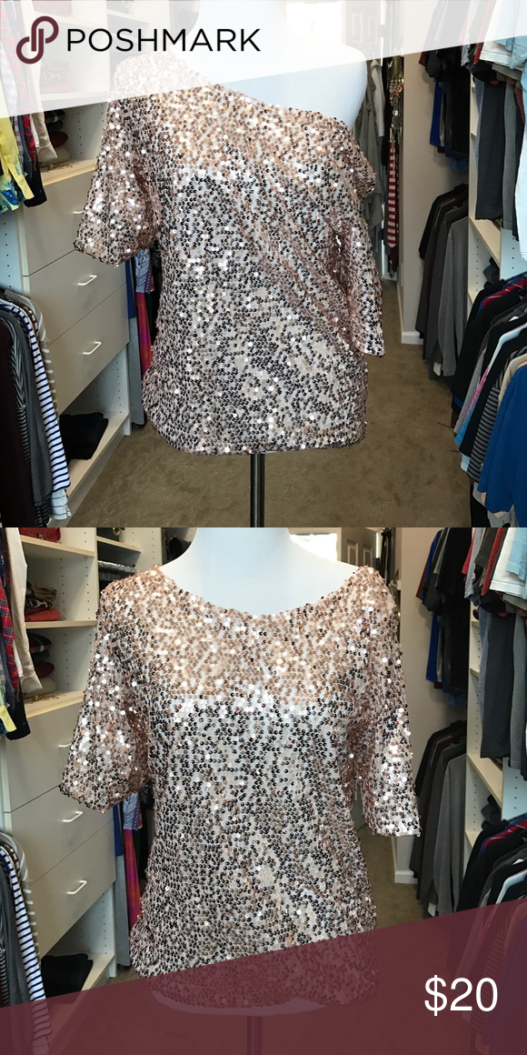Sequined top small So cute. Must have. It's brand new. No tags because it didn't come with one Tops Blouses