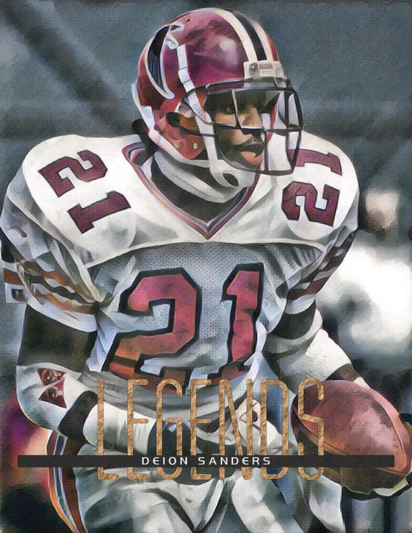 Deion Sanders Atlanta Falcons Abstract Art 21 Art Print By Joe Hamilton In 2020 Nfl Football Art Nfl Football Helmets Atlanta Falcons Football