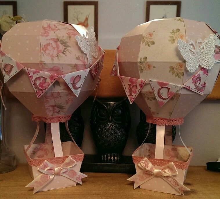 Made for baby twin girls using Crafters Companion hot air balloon ...