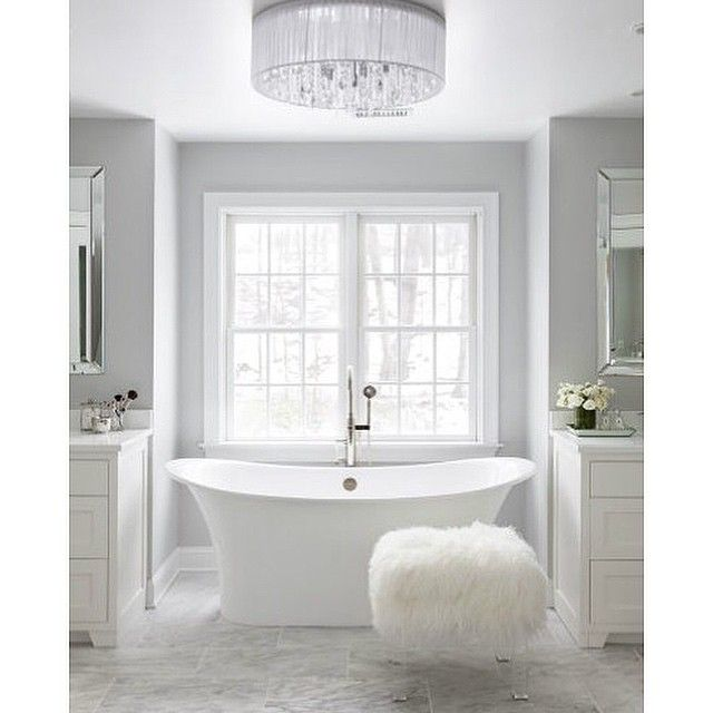 If Only We Could Figure Out A Way To Work From Here!? ☺️ Love The Freestanding Tub Between The