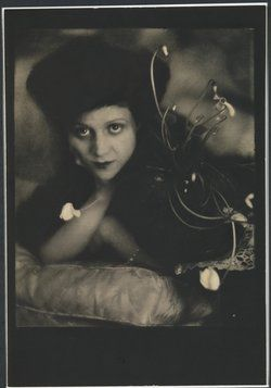 Mercedes de Acosta, one of Marlene's female lovers, and a gifted writer. She oversaw a predominantly gay inner circle in Hollywood and was a longtime lover of Greta Garbo.