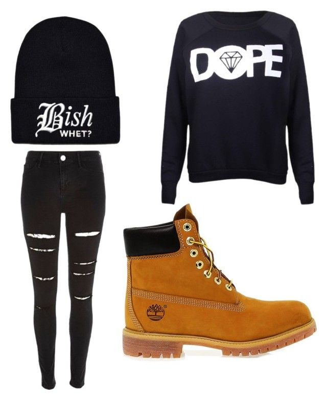 """""""Bish Whet"""" by skyblue2535 ❤ liked on Polyvore featuring beauty, River Island and Timberland"""