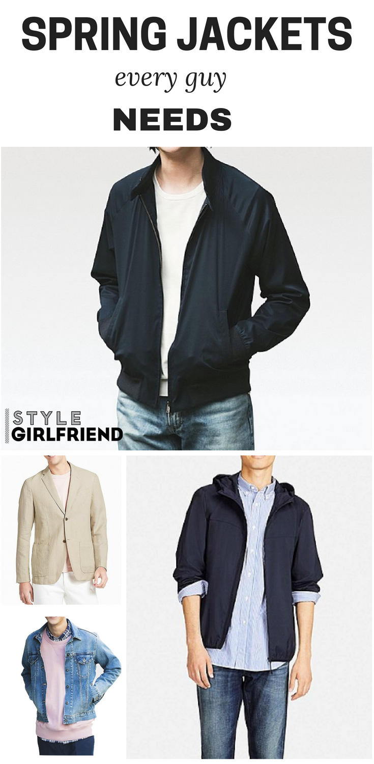 5 Best Spring Jackets Every Guy Needs Style Girlfriend Mens Light Jacket Spring Jackets Jackets [ 1500 x 735 Pixel ]