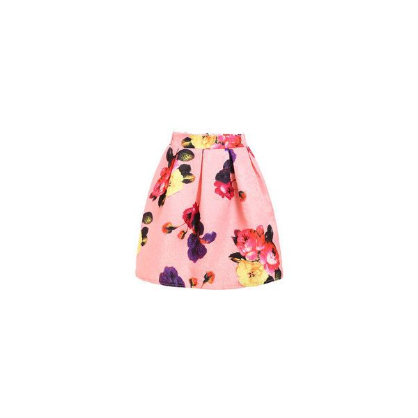 Graffiti Print Box Pleated Skirt via Polyvore featuring skirts, box pleat skirt и red skirt