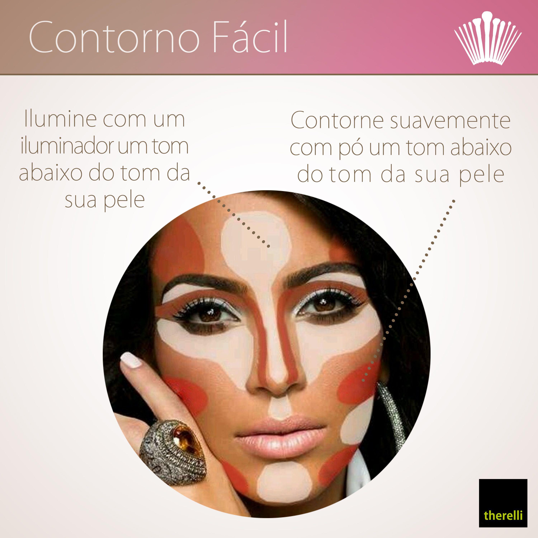 Como trabalhar contorno e iluminação facial