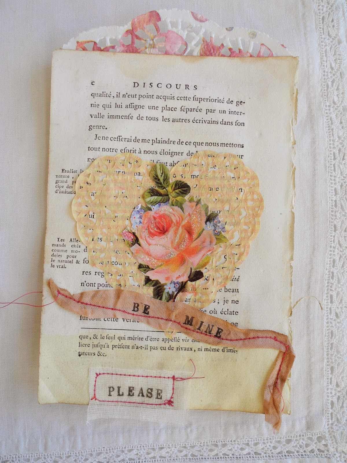 One Bunting Away: #5 - A Pleading Heart | dear love | Vintage paper