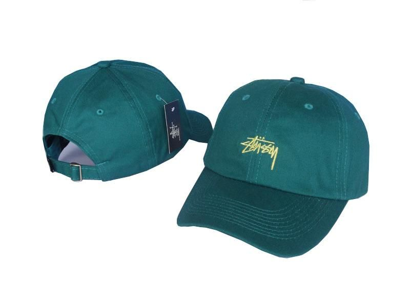Mens   Womens Stussy Stock Iconic Popular Fashion Golf Camp Strapback  Adjustable Cap - Green   Gold 678992de6d