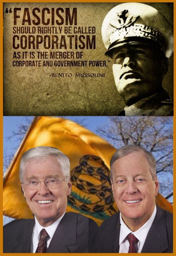 Image result for koch fascists
