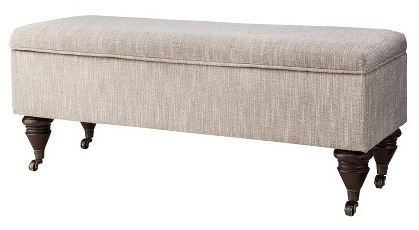 For a classic addition to your bedroom, place this bench at the end of your bed.