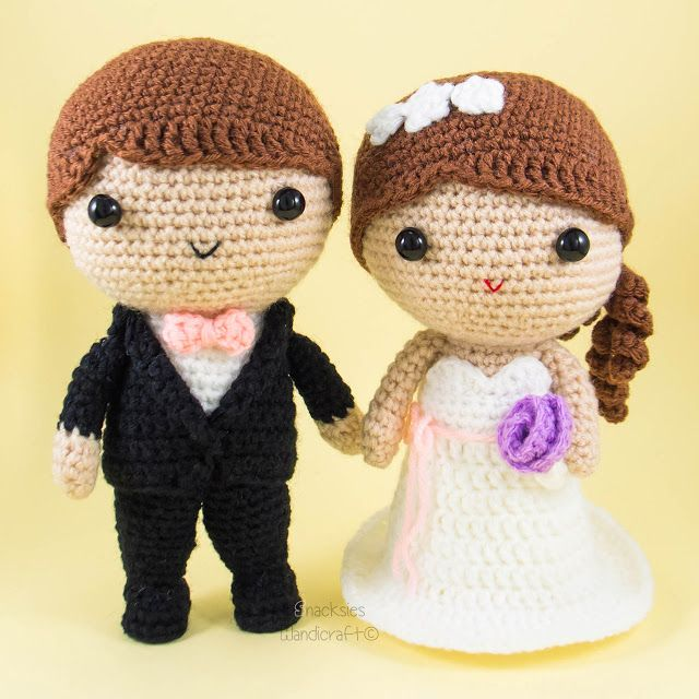 Bride and Groom Amigurumi Crochet ~ Snacksies Handicraft Corner ...