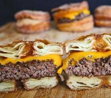 Craving for a pastry and a burger? Try the #Cronut #burger on #BallisticBBQ