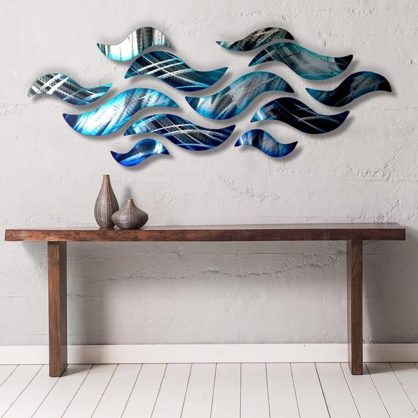 Rip Tide Metal Wall Sculpture With Abstract Tropical Wave Design By Brian Jones Metal Tree Wall Art Abstract Metal Wall Art Wall Sculpture Art