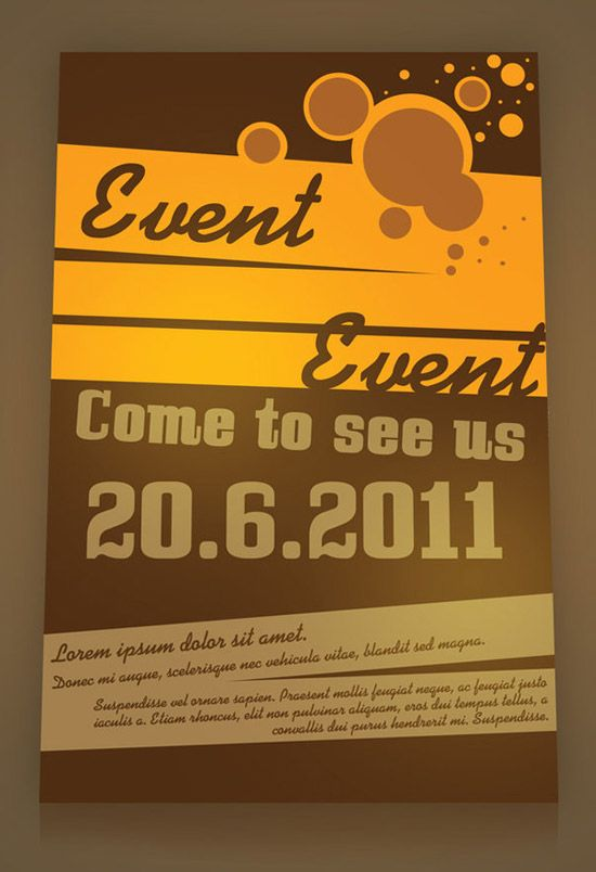 Event Flyer Ideas  Keepin It Professional    Event