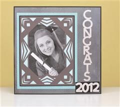 Display this beautiful layout at your graduation party! #Cricut