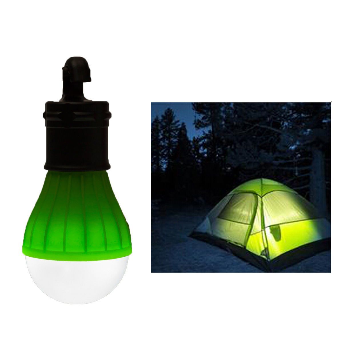 Special Hanging 3 Led Camping Tent Light Bulb Fishing Lantern