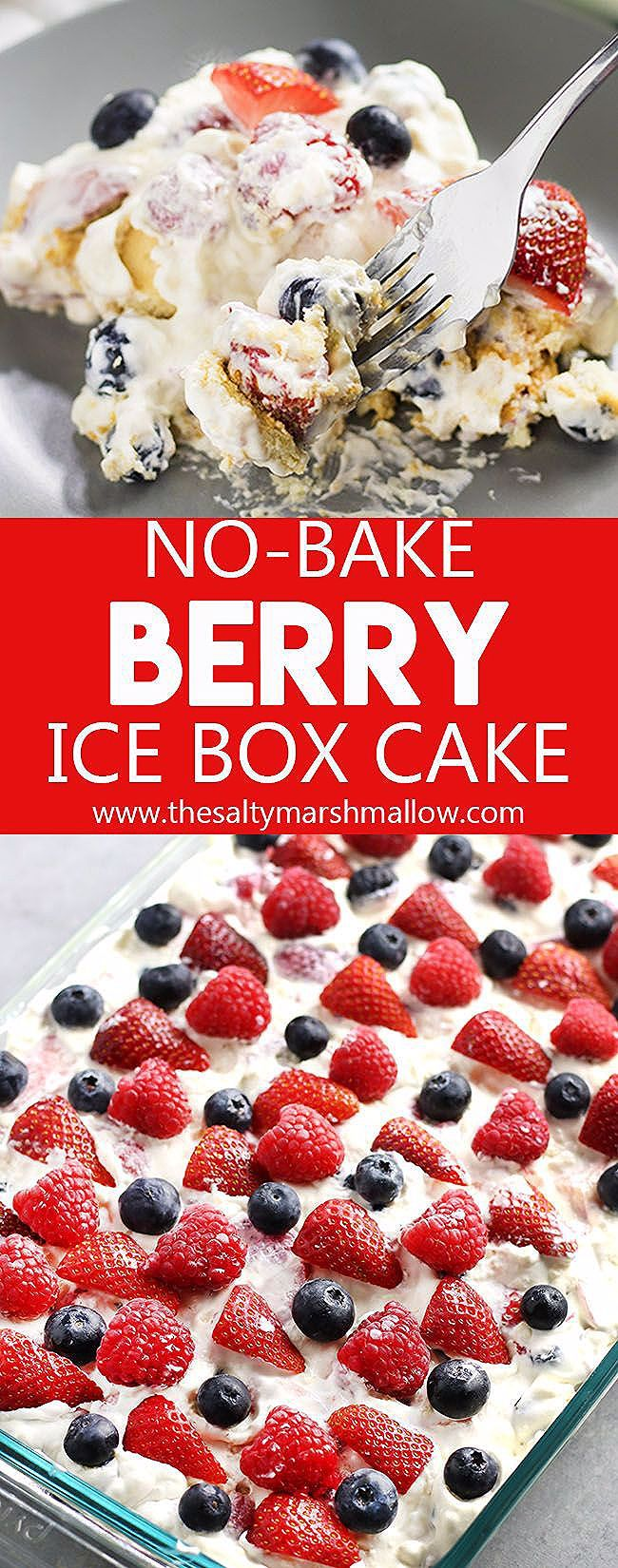 Photo of No Bake Berry Icebox Cake
