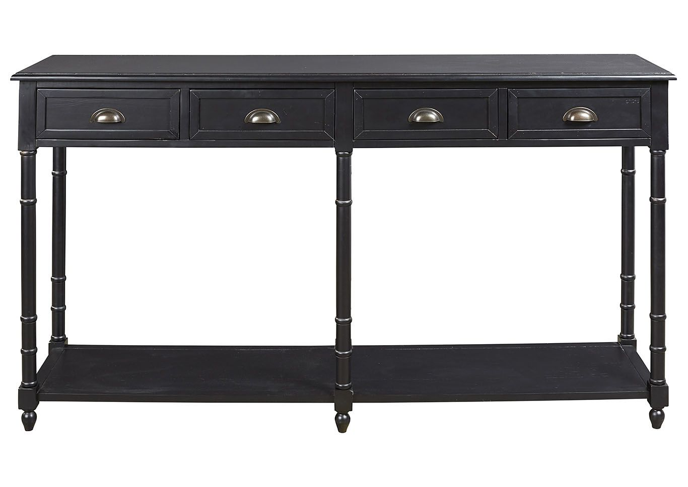 Eirdale Black Sofa Console Table Decoreren Decoratie