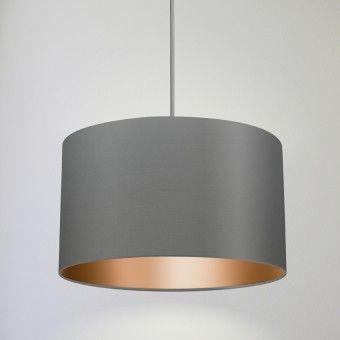 Droom hang loose pendelleuchte in grau kupfer wohnen for Dekoration wohnzimmer kupfer