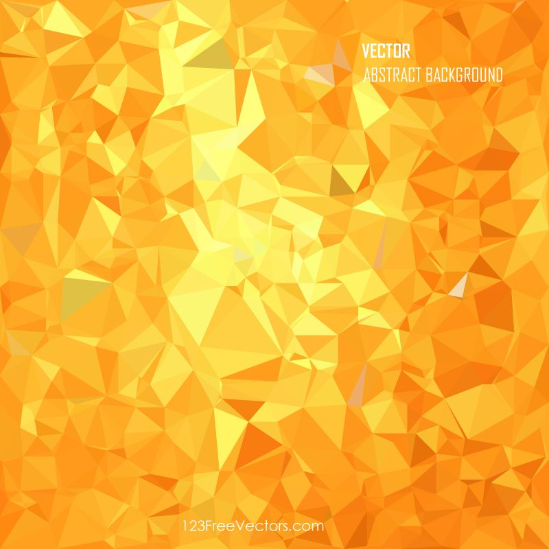 Red Yellow Abstract Polygonal Triangular Background Design