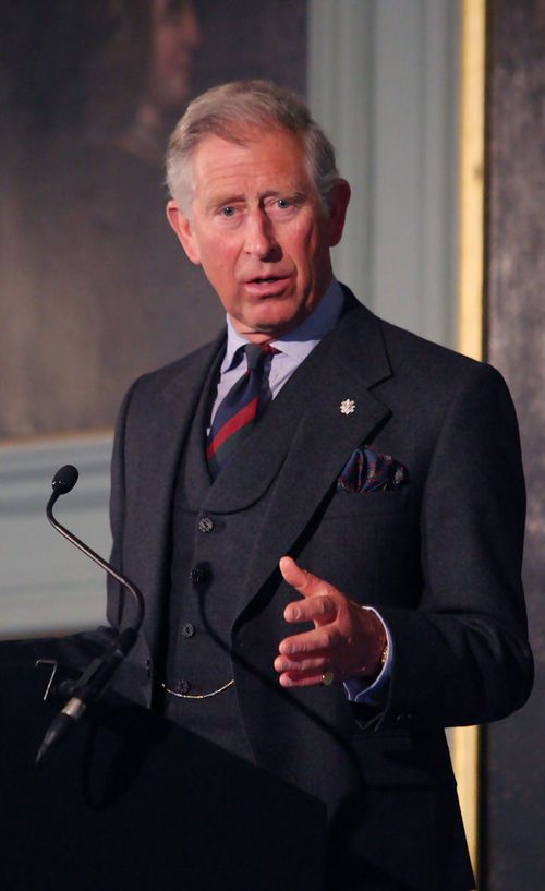 The Prince of Wales: a recent picture of Prince Charles wearing a ...