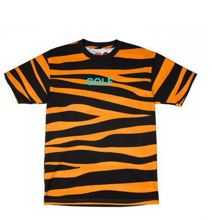 0a1215412f7b GOLF TIGER STRIPE TEE ORANGE GOLF WANG