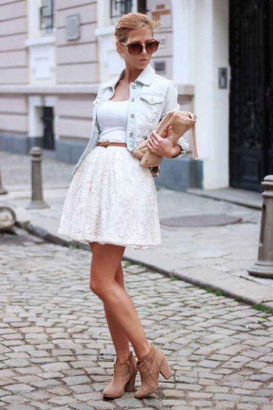 11 combinaciones para tu falda de encaje blanca 5 0145ac153837