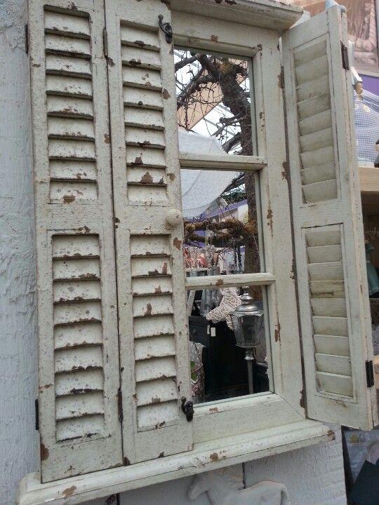 Favoriete Gezien bij Intratuin spiegel achter luiken | frankrijk FQ11