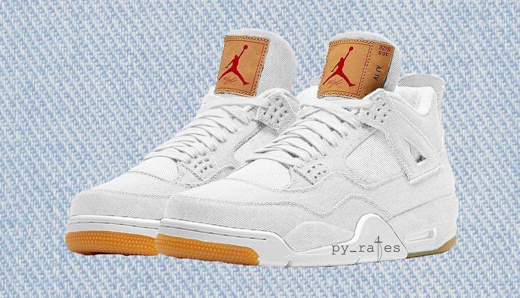 660f9022d8e7 Levi s x Air Jordan 4 Retro Release Date  06 16 2018 Color  White White  Style    AO2571-100 Price   225