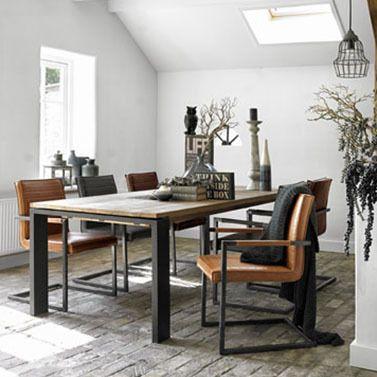 Caldes stoere eetkamerstoel in Old Look Style  Pronto